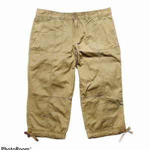 Calvin Klein khaki capri pants, size 12